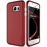 URCOVER Custodia Ultra Slim Samsung Galaxy S7 Edge VRS Design Single Fit | Back Cover Rigida con Bumper Antishock Rosso petalo | Protezione Retro Ultra Resistente