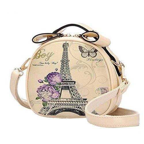 Simpl Leisure élégant sac à bandoulière simple épaule rétro sac petit sac à main ronde