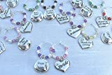 Champagne Wine Glass Charms Beads