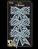 Packung mit 3 Glitzer-Weihnachtsbögen - ICE BLUE / BABY BLUE - Weihnachtsbaumschmuck