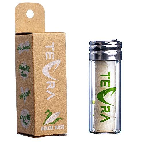 Vegane Zahnseide von TEVRA - Natürliche Zahnseide - Minz- und Ingwergeschmack - 30m