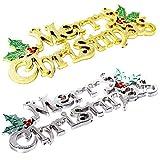 TianranRT 24cm weihnachten baum dekoration glänzend fröhlich brief karte für weihnachten hängend verzierung