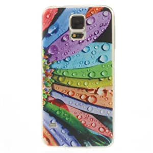 F2S 0.7mm Soft TPU Gel Case Protector for Samsung Galaxy S5 G900 - Colorful Petals