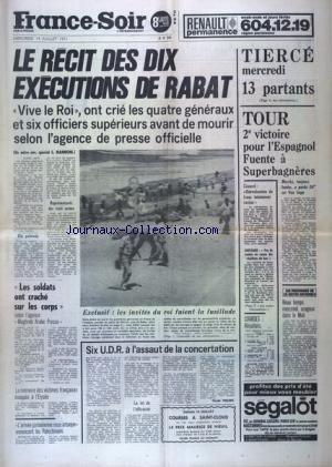 FRANCE SOIR 8 EME EDITION du 14/07/1971