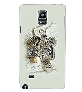 PrintDhaba Metal Design D-2265 Back Case Cover for SAMSUNG GALAXY NOTE 2 (Multi-Coloured)