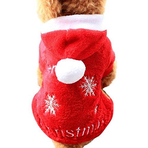Kostüm Weiche Grüne - XXYsm Hundebekleidung Winter Weihnachten Schnee drucken Hund Hündchen Weiche Kostüm Haustier Kleidung Hundemantel Grün M/Büste: 40 cm
