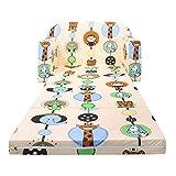 LULANDO Classic Kindersofa Kindercouch Kindersessel Sofa Bettfunktion Kindermöbel zum Schlafen und Spielen ZOO Ecru - 3