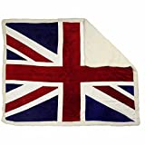 Großbritannien Union Jack Flagge Kuscheldecken Special Edition Luxury Decke Sherpa Werfen Warm Fleece - Neu & Exklusiv