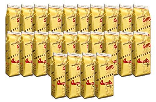 Caffè Quarta Avio Oro macinato. N. 24 confezioni da 250 g. Caffè italiano pugliese salentino prodotto e confezionato in Salento....