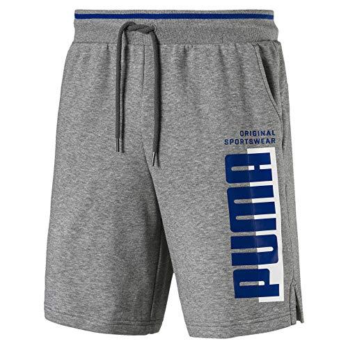 Puma Athletics Herren Shorts Medium Gray Heather M - Athletic Gray Heather