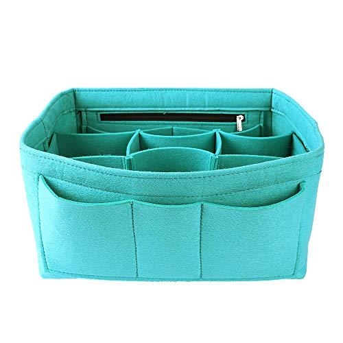 Ming Wei Filzeinsatz Organizer Tasche in Tasche für Handtasche Geldbeutel Organizer Medium tiffany blue