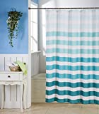 #4: Skipper Ombre Stripes Striped PVC Shower Curtain - 6.5ft, Blue