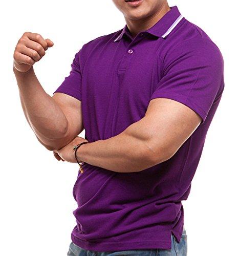 worboo Herren Poloshirt Violett