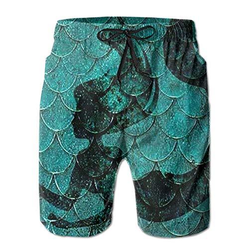 Nacasu Men's Summer Surf Short Swim Trunks Quick Dry Pants with Pockets for Mans L