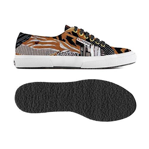 Chaussures Le Superga - 2750-fabricfanplw ETHNIC BROWN-BLACK