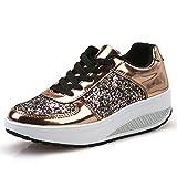 VECDY Damen Sneakers,Weihnachten Geschenke- Herbst Arbeiten Sie glänzende Turnschuhe vorzügliches Kleid um, Das Flache Schuhe der Schuhe im Freien Eignung beschuht