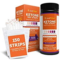 Ketone Keto Urine 150 Test Strips. 3 Resealable Foil Packs of 50 Strips Each. Diet. Accurately Measure Your Fat Burning Ketosis Levels.