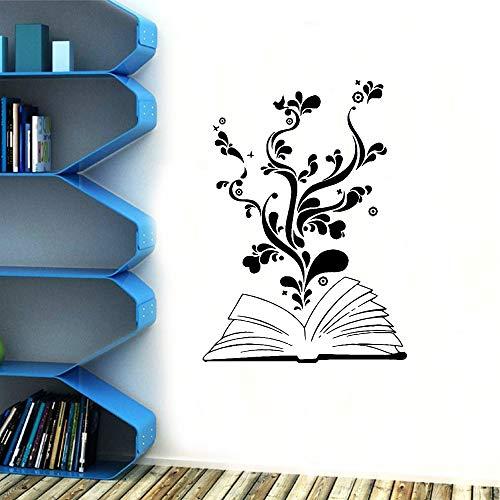 hllhpc divertimento i fiori nel libro home decor moderna decorazione acrilica per cucina ristorante sticker 43 * 59cm