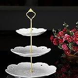 Gemini _ Mall 3stöckige Kuchenetagère Kuchen Teller Ständer Griff Armatur Hochzeit Party Tisch Dekor gold