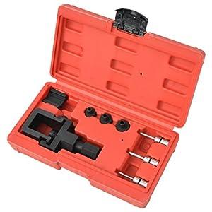 vidaXL Kit de disjoncteur et de rivetage de chaîne moto Séparateur 8 pcspas cher
