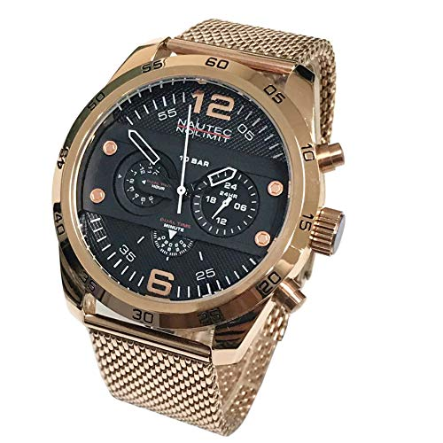 Nautec No Limit Mens Chronograph Quartz Watch with Stainless Steel Strap 124056