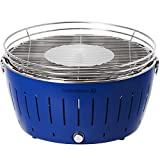 LotusGrill G-TB-435- Barbacoa de carbón sin humo XL, color azul