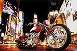 1art1 40560 Motorräder - Midnight Rider Fototapete Poster-Tapete (175 x 115 cm)