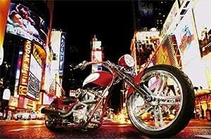 Motocyclettes Papier Peint Photo/Poster - Motard De Minuit (175 x 115 cm)