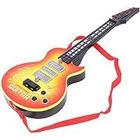 JAGENIE Música Guitarra Eléctrica 4 Cuerdas Instrumento Musical Juguete Educativo Juguete Niños Regalo Amarillo