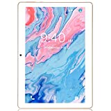 Tablette Tactile 10 Pouces BEISTA Full HD-Android 9.0,4Go RAM,48Go ROM,3G Sim,WiFi,GPS,Bluetooth,OTG,Conception humanisée-Or