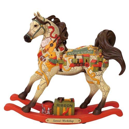 ted Ponies Santas Workshop Rocking Horse Christmas Figurine 6001112 ()