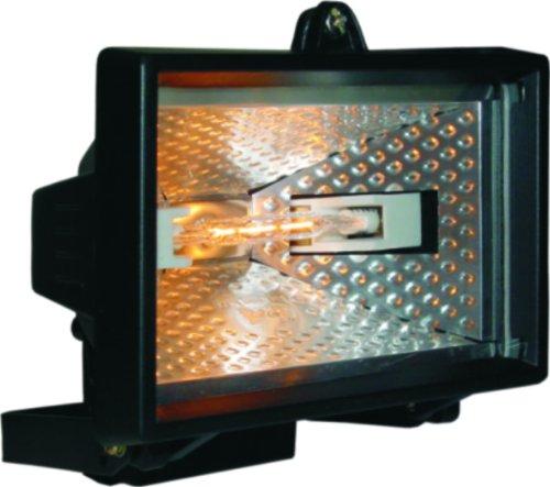 Smartwares 10.036.76 Foco halógeno exterior de 120W 2250lm negro HL120 E27, (120...