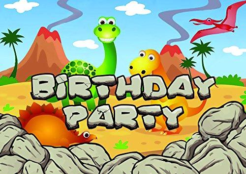 (Dinosaurier-Thema-Geburtstagsfeier-Einladungen einladungen Kinderkinder Mädchen/Jungen i009)
