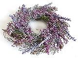 Schöner Flechtkranz Lavendeltraum Holz Kranz mit Lavendel Kunstblüten Ø 35 cm