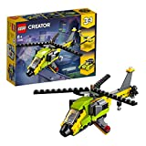 LEGO 31092 Creator 3in1 Helicopter Adventure Power Boat and Glider Plane Building Set, Vehicle Toys for Kids 6 Years Old and Older