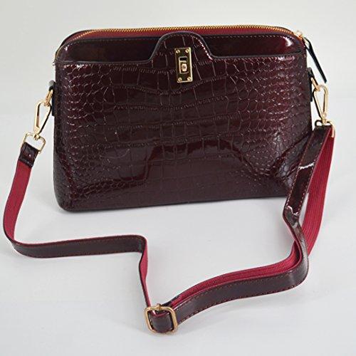 Millya, Borsa a tracolla donna, BLACK (nero) - bb-01081-02C WINE RED