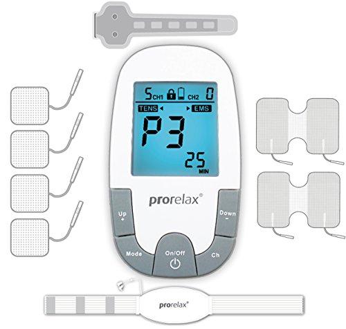prorelax Tens/Ems SuperDuo Plus. Elektrostimulationsgerät mit besonders umfangreichem Zubehörset