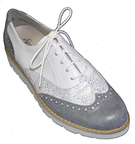 Semler E8125-746-896 Elena donna scarpe bianco / argento / grigio
