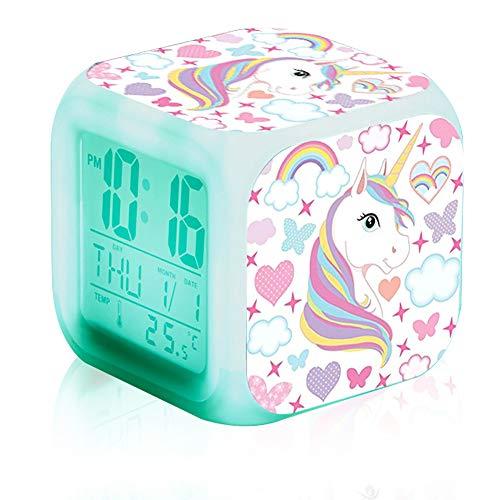 Ideapark Reloj Despertador Unicornio Niños Alarma