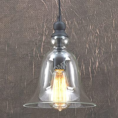 Big Bell Glass Vintage Retro Ceiling Pendant Light Hanging Lamp from LOMT