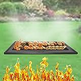DRULINE Grillplatte Wendeplatte Gusseisen Pizzaplatte für Gasgrill Massiv