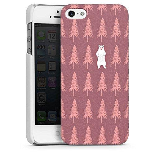 Apple iPhone 4s Housse Étui Silicone Coque Protection L'ours dans la forêt Ours polaire Ours CasDur blanc
