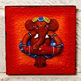 Unravel India Teracotta Dholak Ganesha Wall Décor