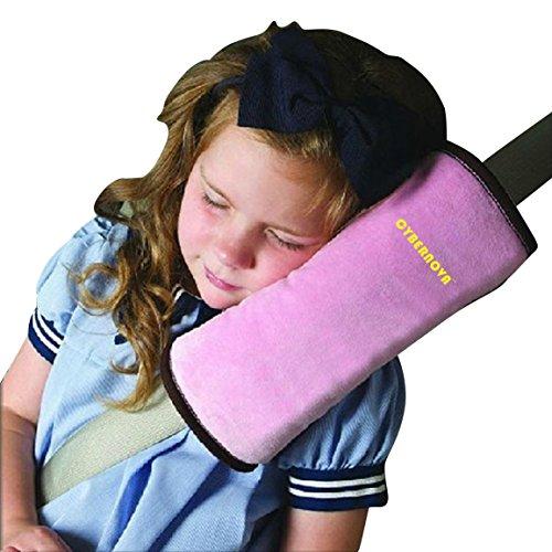 CYBERNOVA Auto Seat Gürtel kissen kindersitz polster gurtpolster für Kinder Baby Kopf Support (ROSA)