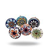 Lot de 6poignées - Style mauresque - En céramique - Par Trinca-Ferro