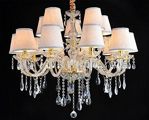 SXJCC lampadari europei lampadario di cristallo candela di cristallo lampadario di soggiorno camera da letto di cristallo ristorante lampada 10+5 head