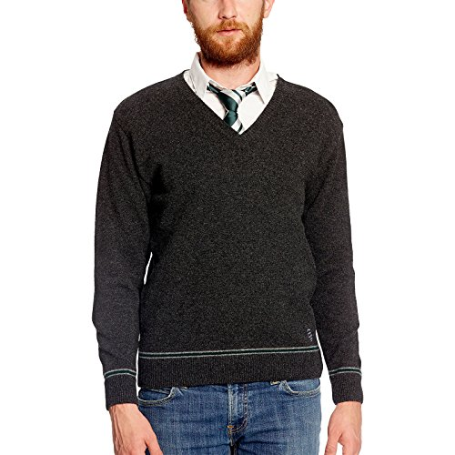 Harry Potter Slytherin Wappen Sweater Hogwarts College Uniform Lammwolle made in Schottland - XS (Quidditch Kostüm Slytherin)