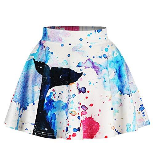 HEETEY Mädchen Kleid Rock Outfits Kleinkind scherzt Mädchen-Galaxie 3D Digital Printing Princess Lässiger gefalteter Tutu-Rock Pettiskirt mit halber Länge