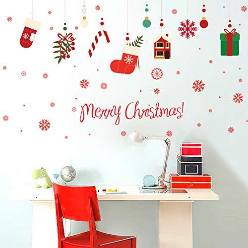 Weihnachtsgeschenkbox Wandaufkleber Weihnachten Schaufenster Aufkleber Kinderzimmer Wanddekoration Aufkleber 60 * 90 Cm