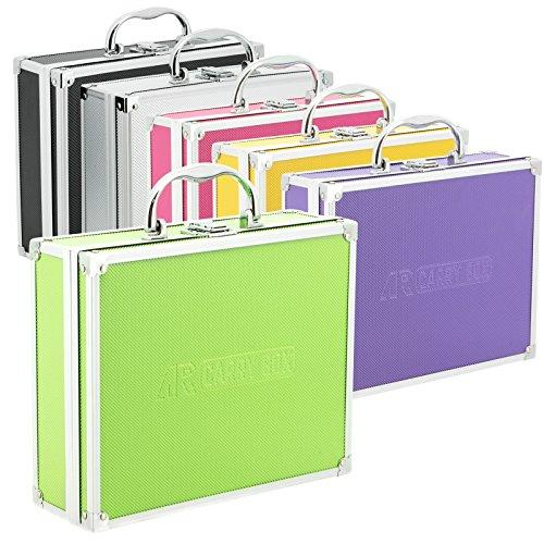 AR CarryBox® Kleiner Alukoffer Werkzeugkoffer Aluminium Koffer leer 260x210x80mm verschiedene Farben, Grün